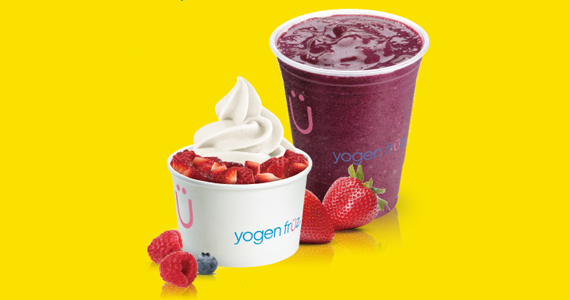 Save 15% off any frozen yogurt or smoothie at Yogen Fruz