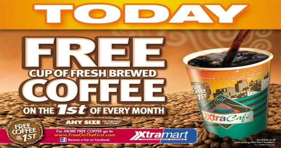 FREE Coffee TODAY At Xtramart