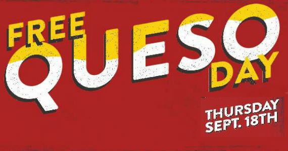 Free Queso Day At Moe's