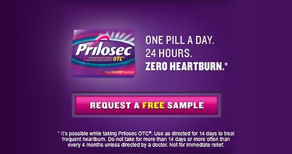 Free Sample of Prilosec