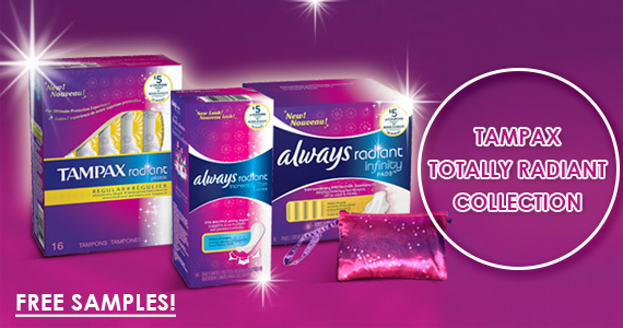 Get a Free Sample from the Tampax Totally Radiant Collection