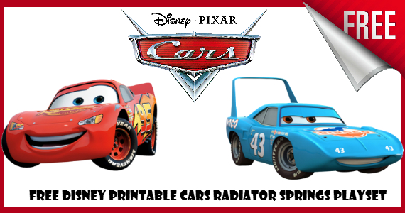 Free Printable Disney Cars Playset