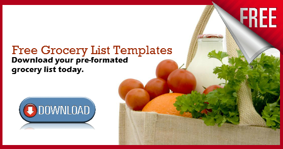 Download Your Free Grocery List Templates