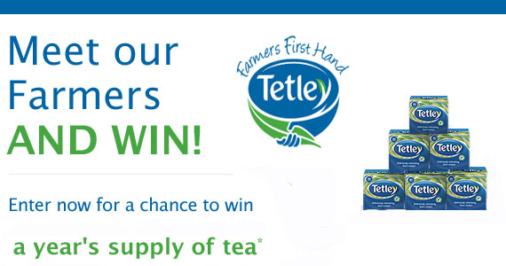 Win A Years Supply Of Tetley Tea